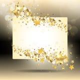 Bannière avec des étoiles d'or Images stock