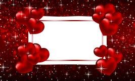 Bannière avec des coeurs sur le fond de bokeh au jour de valentines illustration libre de droits
