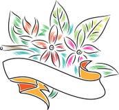 Bannière avec des fleurs illustration libre de droits