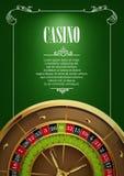 Bannière avec des insignes de logo de casino Photographie stock