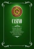 Bannière avec des insignes de logo de casino Photo stock