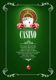 Bannière avec des insignes de logo de casino Images libres de droits