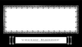 Bannière blanche Photo stock