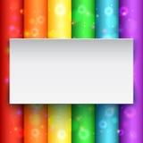 Bannière blanche sur le fond abstrait Photos stock