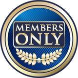 Bannière bleue d'emblème de membres seulement illustration stock