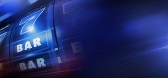 Bannière bleue fraîche de machine à sous illustration de vecteur