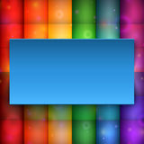 Bannière bleue sur le fond abstrait Photo stock