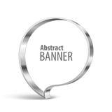 Bannière brillante de vecteur de vecteur en métal Image stock
