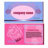 Bannière, carte pour le salon de beauté Illustration de vecteur Image stock