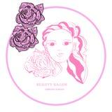 Bannière, carte pour le salon de beauté Illustration de vecteur Image libre de droits