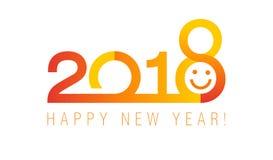 bannière classique rouge de la nouvelle année 2018 illustration stock