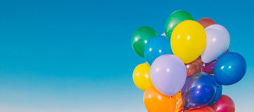 Bannière colorée de ballons à air Image stock