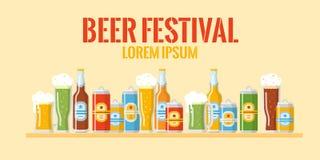 Bannière colorée de festival de bière Images libres de droits