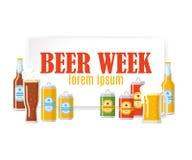 Bannière colorée de festival de bière Photos stock