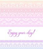 Bannière colorée de mandala de zentangle de vecteur Souhait, félicitations, carte postale Calibre pour imprimer, web design, affi Photo libre de droits