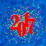 Bannière colorée de Noël de confettis Image stock