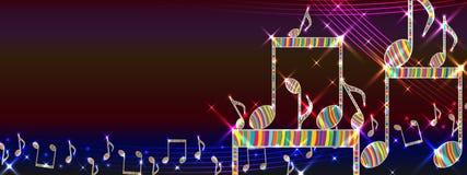 Bannière colorée de plate-forme de musique Photos libres de droits
