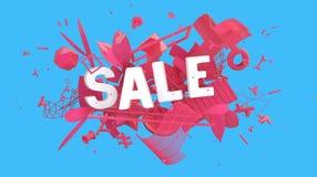 Bannière colorée de vente illustration de vecteur