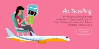 Bannière conceptuelle de déplacement d'air Conception de vecteur Photographie stock libre de droits