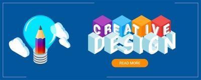 Bannière créative d'idée illustration libre de droits
