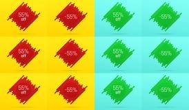 Bannière créative de vente avec 55  offre Photos libres de droits