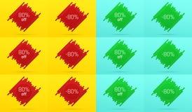 Bannière créative de vente avec 80  offre Photo libre de droits