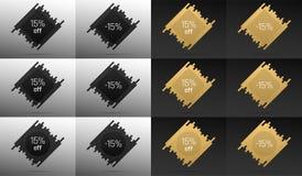 Bannière créative de vente avec 15  Remise des prix illustration stock