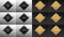 Bannière créative de vente avec 55  Remise des prix Photo libre de droits