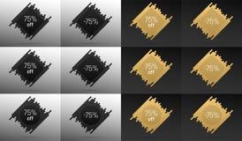 Bannière créative de vente avec 75  Remise des prix Image stock