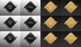 Bannière créative de vente avec 25  Remise des prix Images libres de droits
