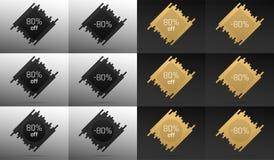 Bannière créative de vente avec 80  Remise des prix Photos stock