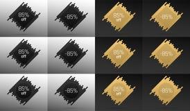 Bannière créative de vente avec 85  Remise des prix illustration stock