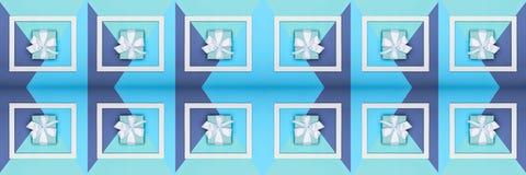 Bannière créative de Web de jour du ` s de père d'art de bruit Turquoise heureuse de jour ou d'anniversaire du ` s de père et fon Photos stock