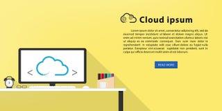 Bannière créative plate de Web de conception photos libres de droits