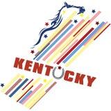 Bannière créative pour le Kentucky illustration libre de droits