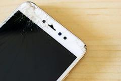 Bannière criquée d'écran de téléphone de main photos libres de droits