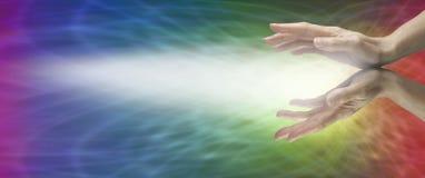 Bannière curative de site Web d'arc-en-ciel Image libre de droits