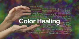 Bannière curative de site Web de thérapie de couleur photographie stock libre de droits