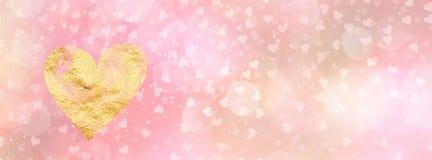 Bannière début sociale de media de valentines avec l'espace de copie Photos libres de droits