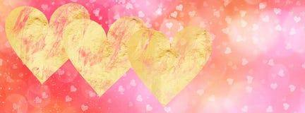 Bannière début sociale de media de valentines avec l'espace de copie Images libres de droits