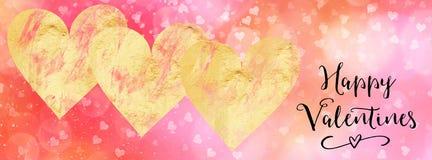Bannière début sociale de media de valentines avec la citation Images libres de droits