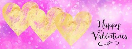 Bannière début sociale de media de valentines avec la citation Image libre de droits