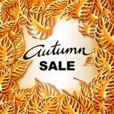 Bannière décorative d'Autumn Sale Photographie stock