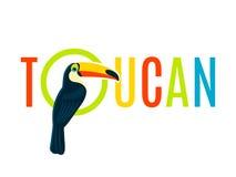 Bannière décorative plate de conception de plaque signalétique de toucan Photographie stock libre de droits