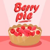 Banni?re d?licieuse de m?dias de Berry Pie Cartoon Social illustration stock