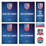 Bannière d'élection présidentielle ou ensemble d'affiche Photographie stock