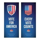 Bannière d'élection présidentielle ou ensemble d'affiche illustration de vecteur