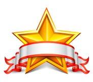Bannière d'étoile Image stock