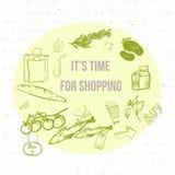 Bannière d'achats d'eco de griffonnage de vecteur EPS10 Photographie stock libre de droits