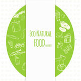 Bannière d'achats d'eco de griffonnage de vecteur Vecteur artistique Image stock